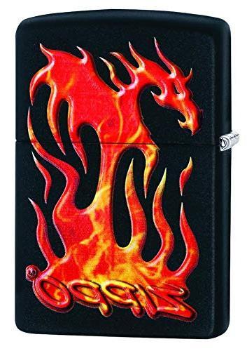 flaming dragon design pocket lighter