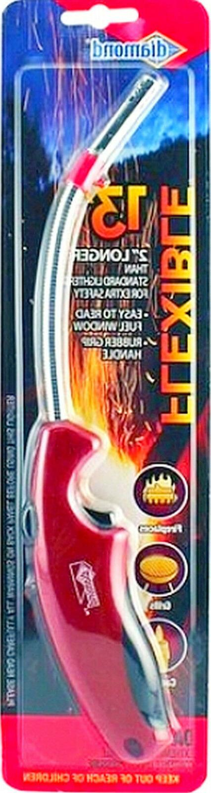 "RED fLeXibLe neck 13"" eXtra LONG LIGHTER Butane fireplace gr"