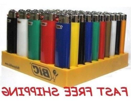 Full Big BIC Cigarette Multi Assorted Color Flint Lighter