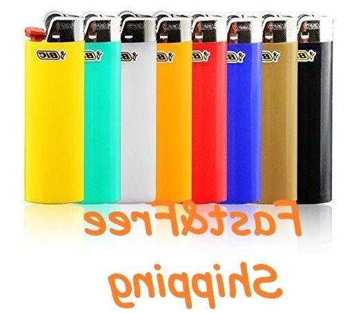 Full Size Big Cigarette Lighters Assorted Color Flint