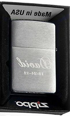 Groomsman Personalizied Zippo Brush Silver Pocket Lighter Fr