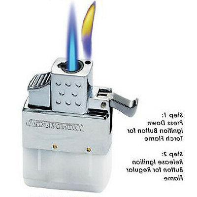 KGM Vector MULTI-FLAME Flip Top ** REGULAR /& TORCH ** Butane Lighter Insert NEW