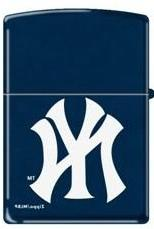 "Zippo ""New York Yankees"" Logo Navy Blue Matte Lighter, 8260"