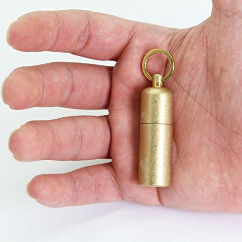 PPFISH Brass Lighter - EDC Peanut Lighter Keychain - Waterproof Fire Starter for Survival and Use