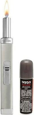 """Zippo Mini Candle Lighter Brushed Metal Construction 6.5"""" Ov"""