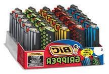 Bic Mini Jr Size Gripper Case with Lighter 25 Pieces Per Tra