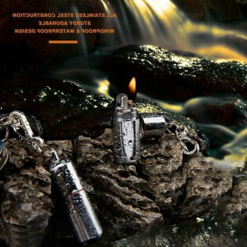 New Pcs Waterproof Lighter Fire Starter Survival
