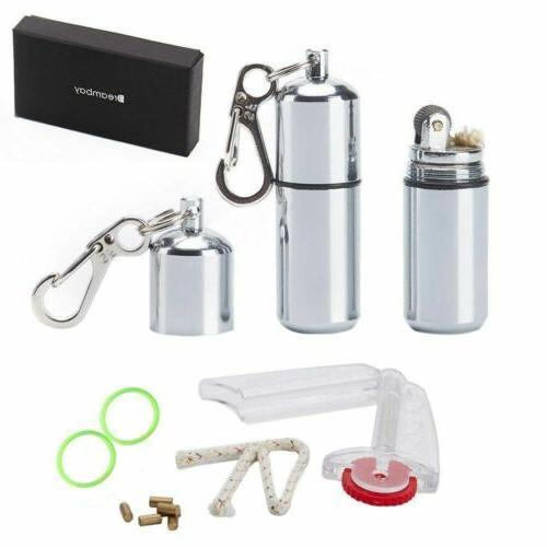 new 2 pcs edc waterproof peanut lighter