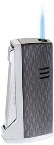 Colibri New Vapour Cigar Lighter Gunmetal Silver Flame Desig