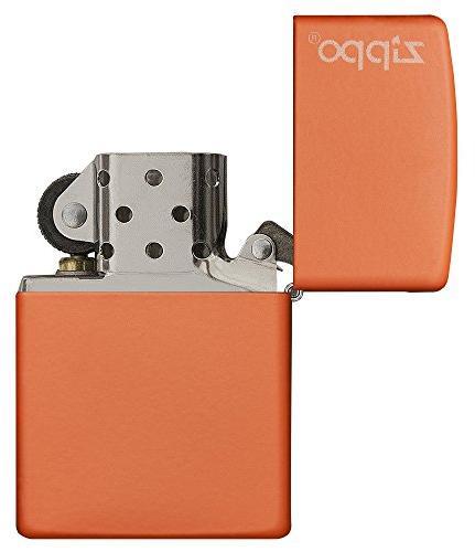 Zippo Orange Matte W/Logo 231ZL
