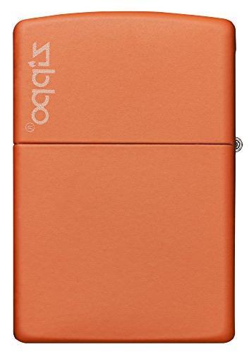 Zippo Orange Matte Lighter W/Logo