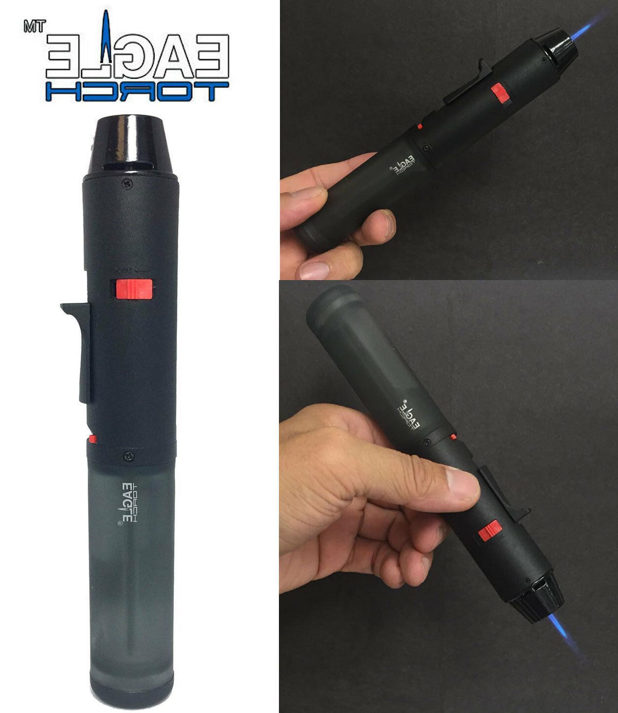 pen gun torch lighter butane refillable semi