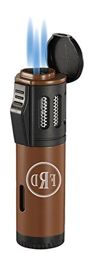 Personalized Visol Artemis Brown Triple Torch Flame Cigar Li