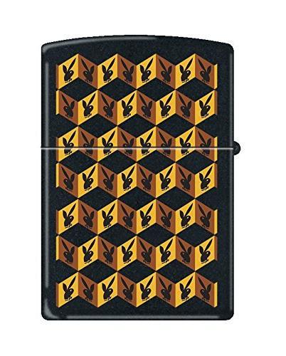 playboy 3d pocket lighter black matte