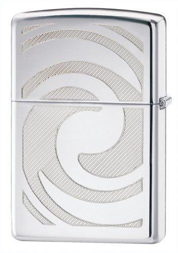 polish chrome 3d abstract lighter