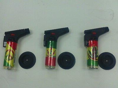 rasta themed jet torch adjustable flame windproof