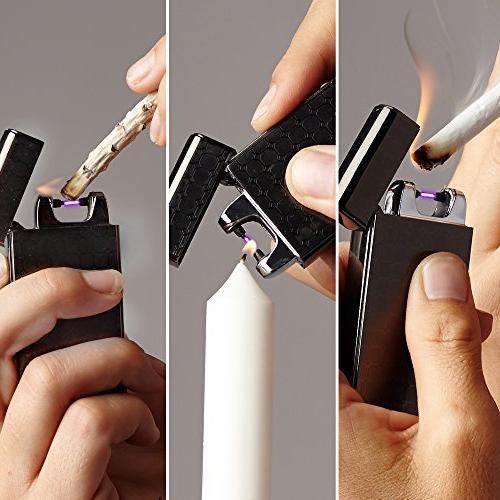 SaberLight Revolutionary Flameless Plasma Rechargeable - Butane - Flameless Splash - - No Harmful Chemicals - Warranty