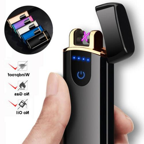 smart touch sensor usb rechargeable double arc