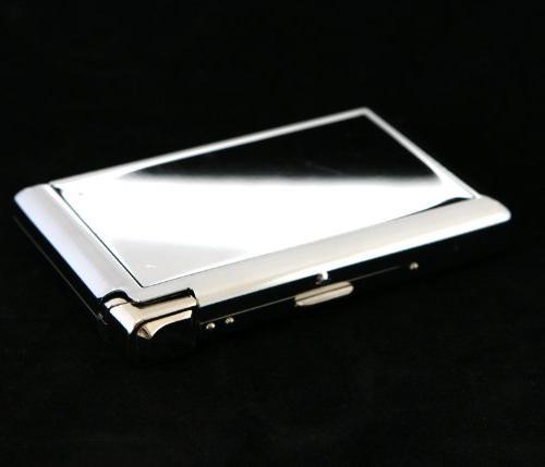 stainless cigarette case w built