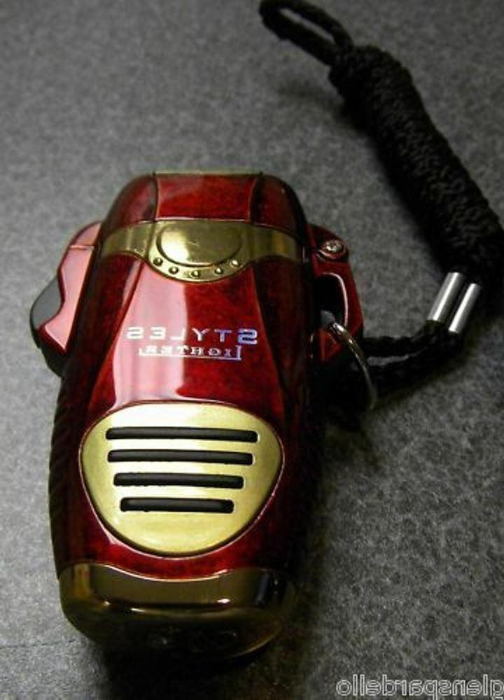 STYLES Triple Flame JET Cigar Torch Lighter RED