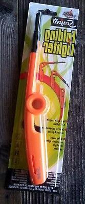 The Scripto REFILLABLE Folding Utility Lighter Orange  Candl