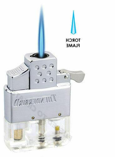 thunderbird butane insert blue torch clear bottom
