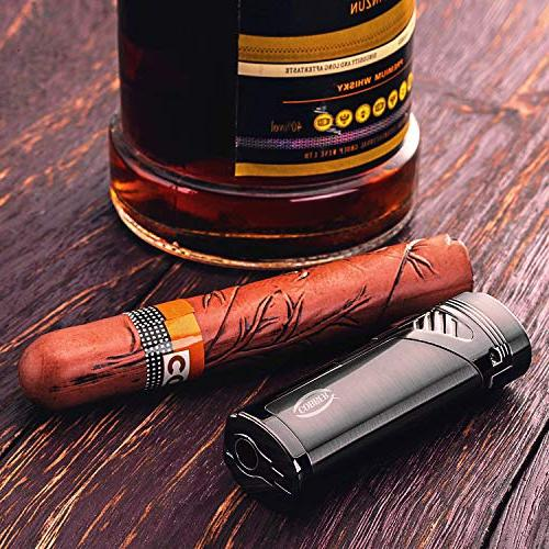 Cobber Cigar Quad Jet Flame Butane Cigar Lighter with Gray
