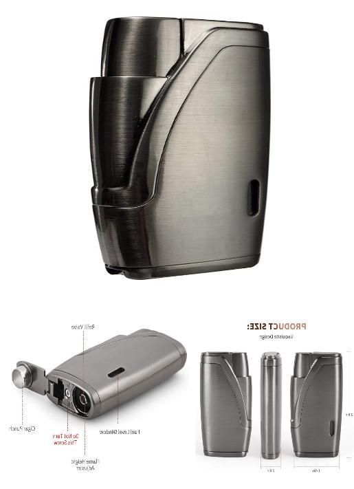 Torch Lighter Cigar Jet Butane Torch Windproof Cigarette Fla
