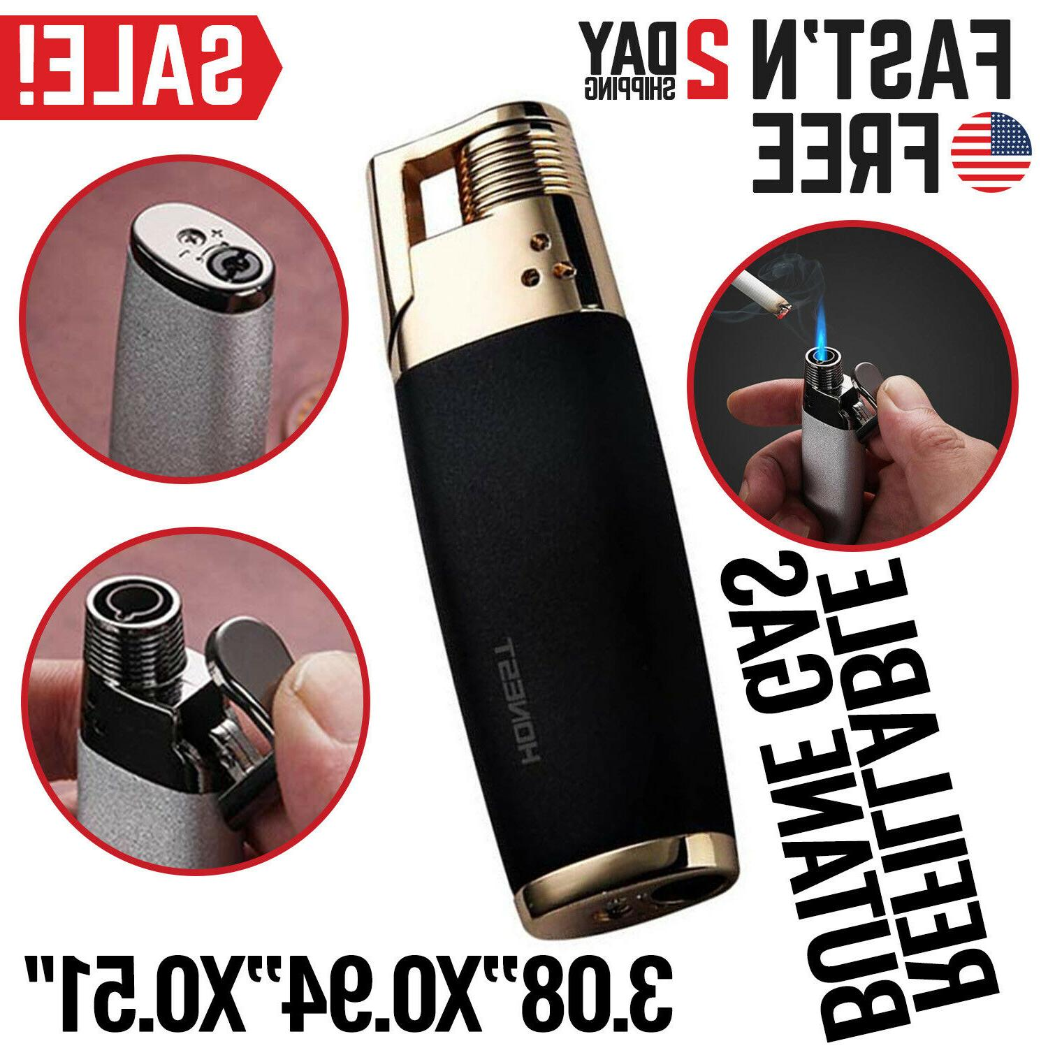 New Jobon Steel Jet Flame Gas Cigarette Lighter Butane Manual Guide