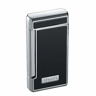 Caseti Tyros Black Lacquer Double Torch Flame Cigar Lighter