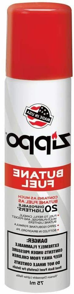 Universal Refill Zippo Butane Lighter Fluid Refined Fuel 75M