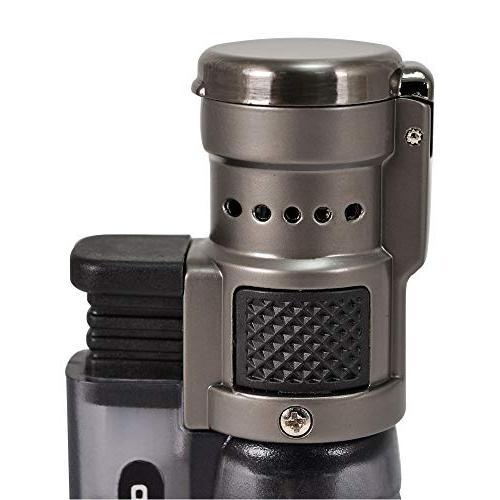 Vertigo Cyclone Triple Torch Lighter Charcoal
