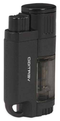 Vertigo Lemans Quadruple Torch Flames Lighter - Black Matte