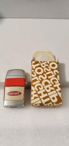 Vintage Scripto Vu Lighter: Compact: Taystee with Red Band a