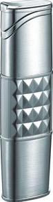 Visol VLR202601 Maradona Satin Silver Torch Flame Lighter
