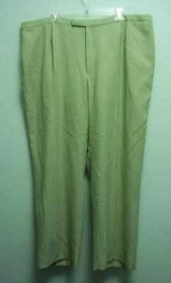 Jones Studio womens pants lighter green full lining 14w new