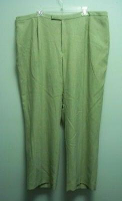 Jones Studio womens pants lighter green full lining 24w new