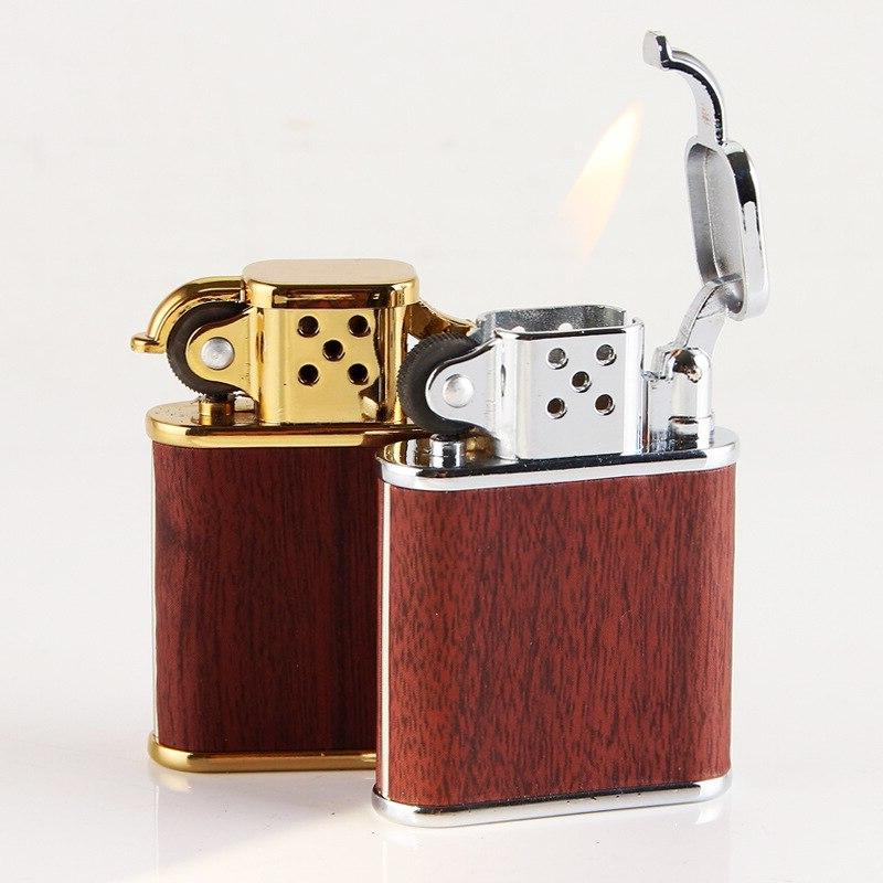 Wood Metal Butane Torch <font><b>Lighter</b></font> Gas <font><b>Refillable</b></font> Bar Cigar <font><b>Lighters</b></font> Gift