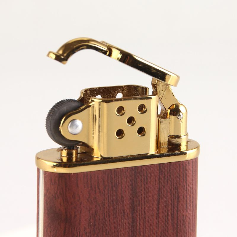 Wood Pattern Butane <font><b>Lighter</b></font> <font><b>Refillable</b></font> Cigarette Bar Cigar <font><b>Lighters</b></font> Men Gift