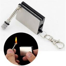 Lasting Match Box Keychain Outdoor Camping Durable Starter F