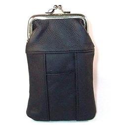 Womens Leather Cigarette Case & Lighter Holder