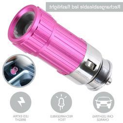 LED Q5 Car Cigarette Lighter Flashlight Vechicle Charging Wa