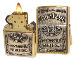 "Zippo ""Jack Daniel's Label - Brass Emblem"" Lighter with High"