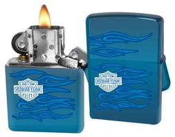 """Zippo """"Harley-Davidson Ghost"""" Lighter with Sapphire Finish"""