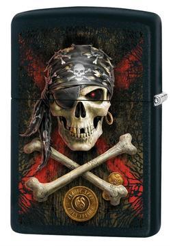 Zippo Lighter: Anne Stokes Pirate Skull - Black Matte 78819