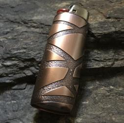 Handmade Lighter Cover Case Sleeve Etched Copper Metal Geome