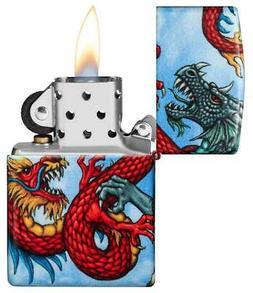 Zippo Lighter Dragon Design Windproof Refill Metal Construct