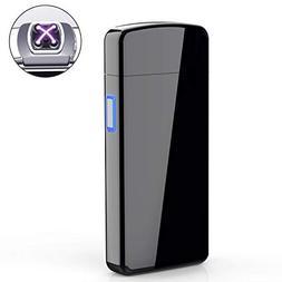 Lighter, Electric Arc Lighter USB Rechargeable Double Arc Li