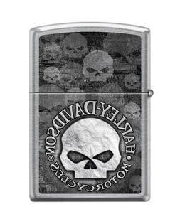 Zippo Lighter Harley-Davidson Skull Street Chrome 29503&