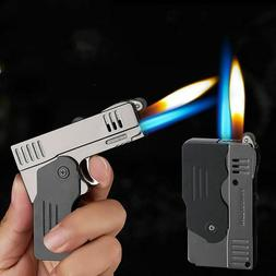 Lighter Jet Double Flame Windproof Turbo Refillable Accessor